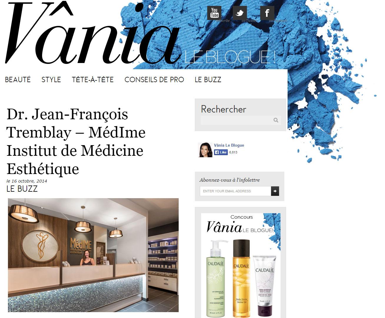 On parle de MédIME sur Vânia Le Blogue